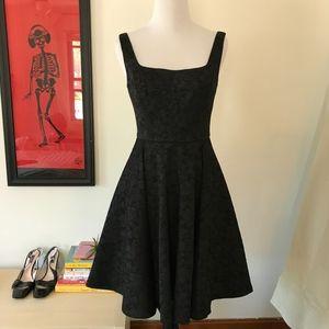 Jill Stuart LBD Dress Black Brocade Sleeveless